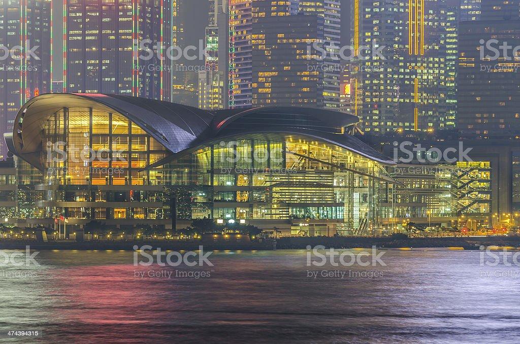 Hong Kong Convention & Exhibition Centre  (HKCEC) stock photo