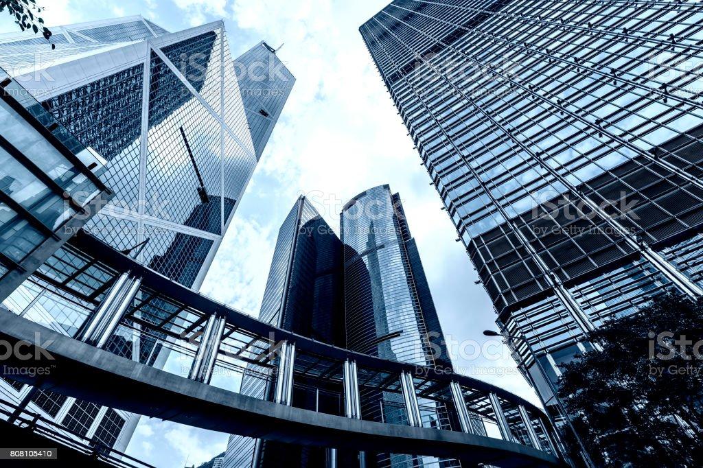 Hong Kong Corporate Buildings stock photo