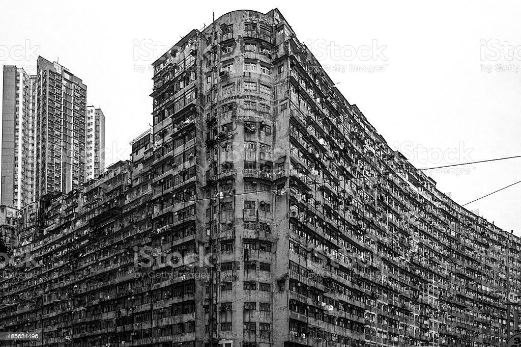 Hong Kong crowded street view 2015 stock photo
