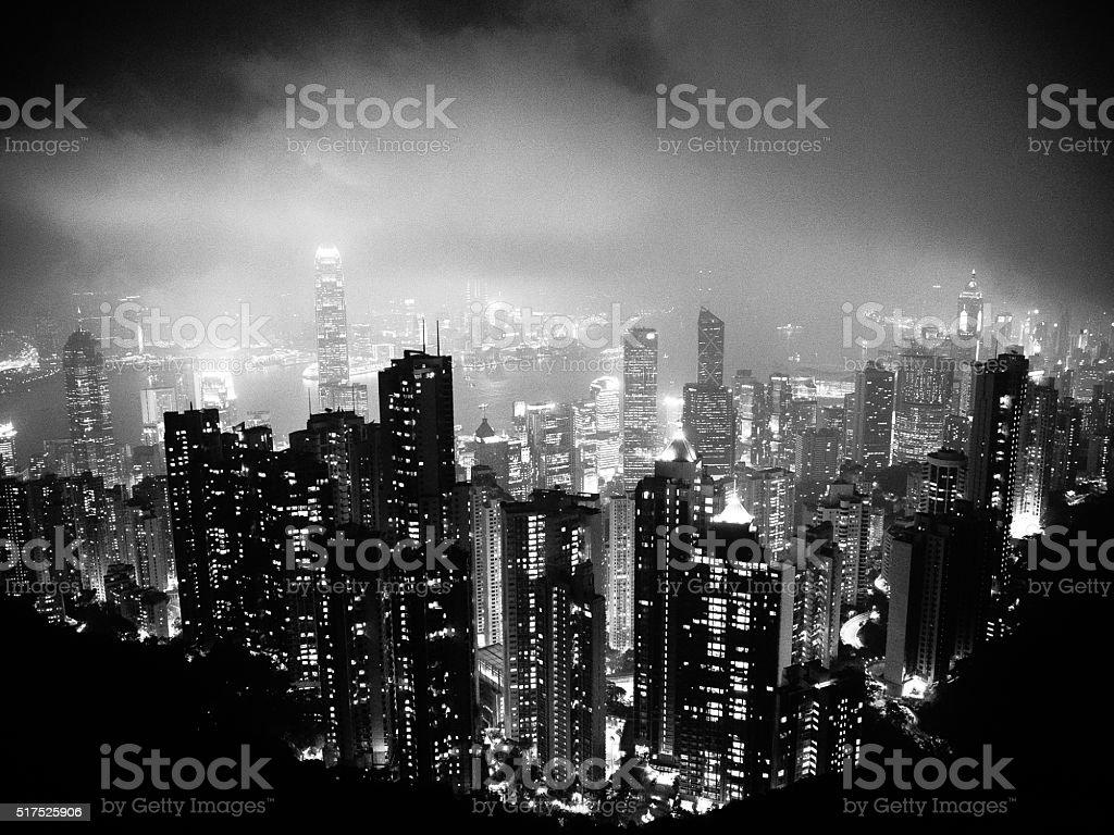 Hong Kong Dark side stock photo