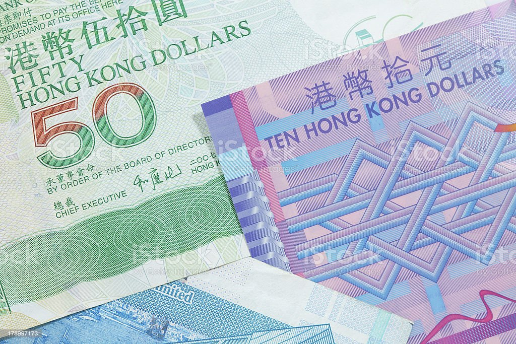 Hong Kong dollar bank notes royalty-free stock photo