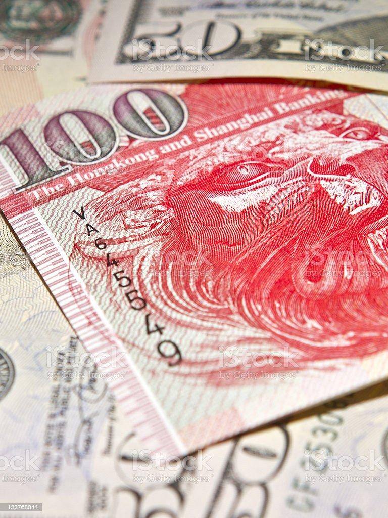 Hong Kong Dollar Peg to the USD royalty-free stock photo