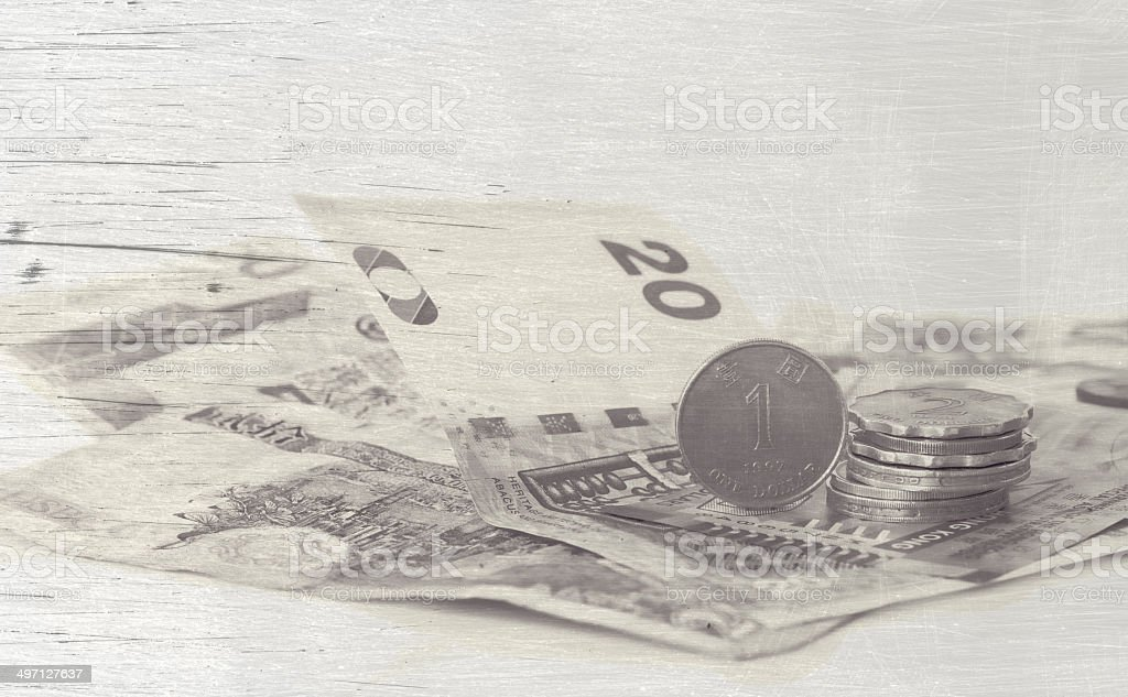Hong Kong dollars Pattern effects royalty-free stock photo