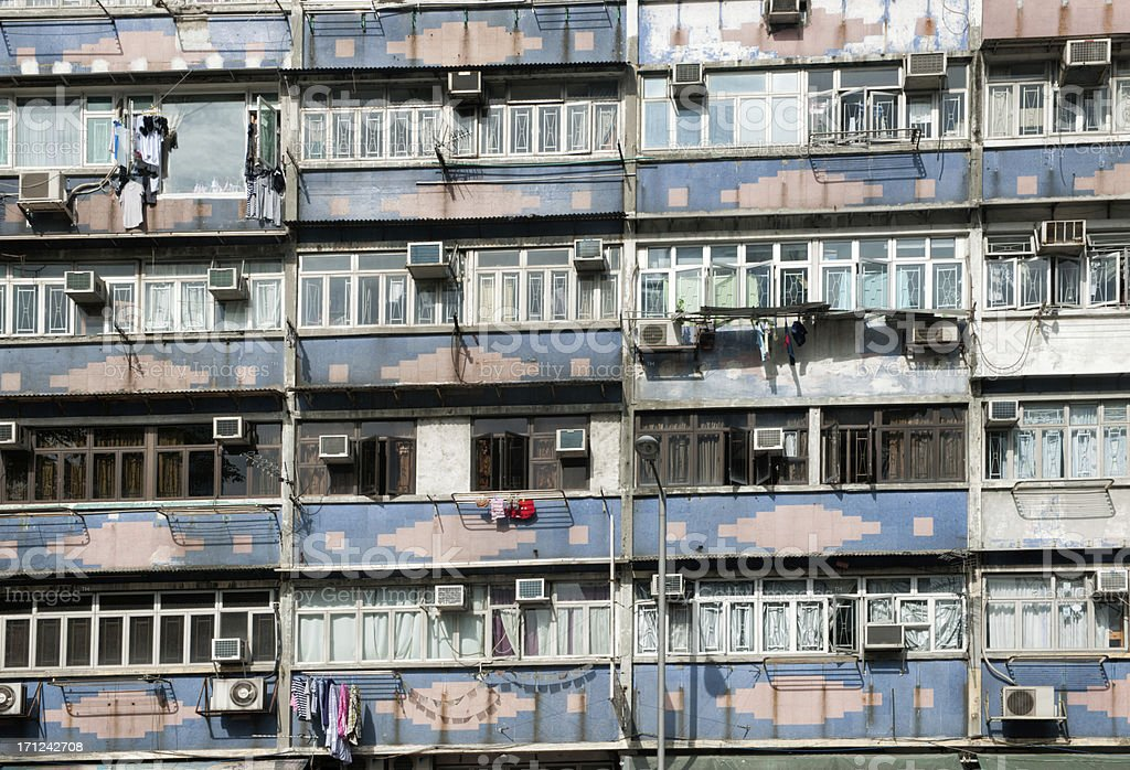 Hong Kong Downtown Ghetto (XXXL) royalty-free stock photo
