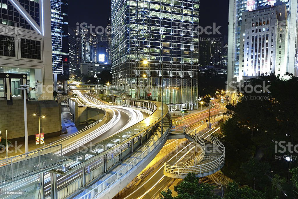 Hong Kong downtown royalty-free stock photo