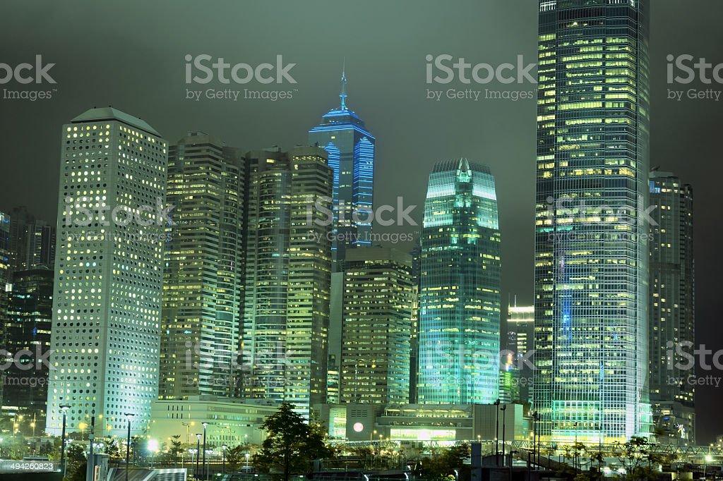 Hong Kong during the Night stock photo
