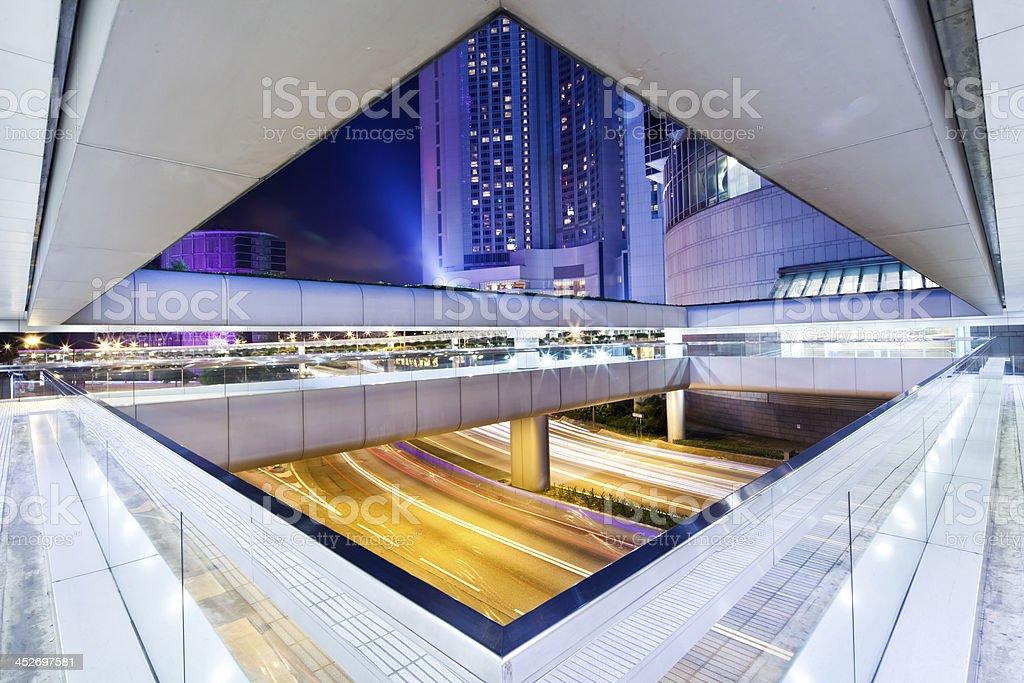 Hong Kong Escalator Walkway stock photo