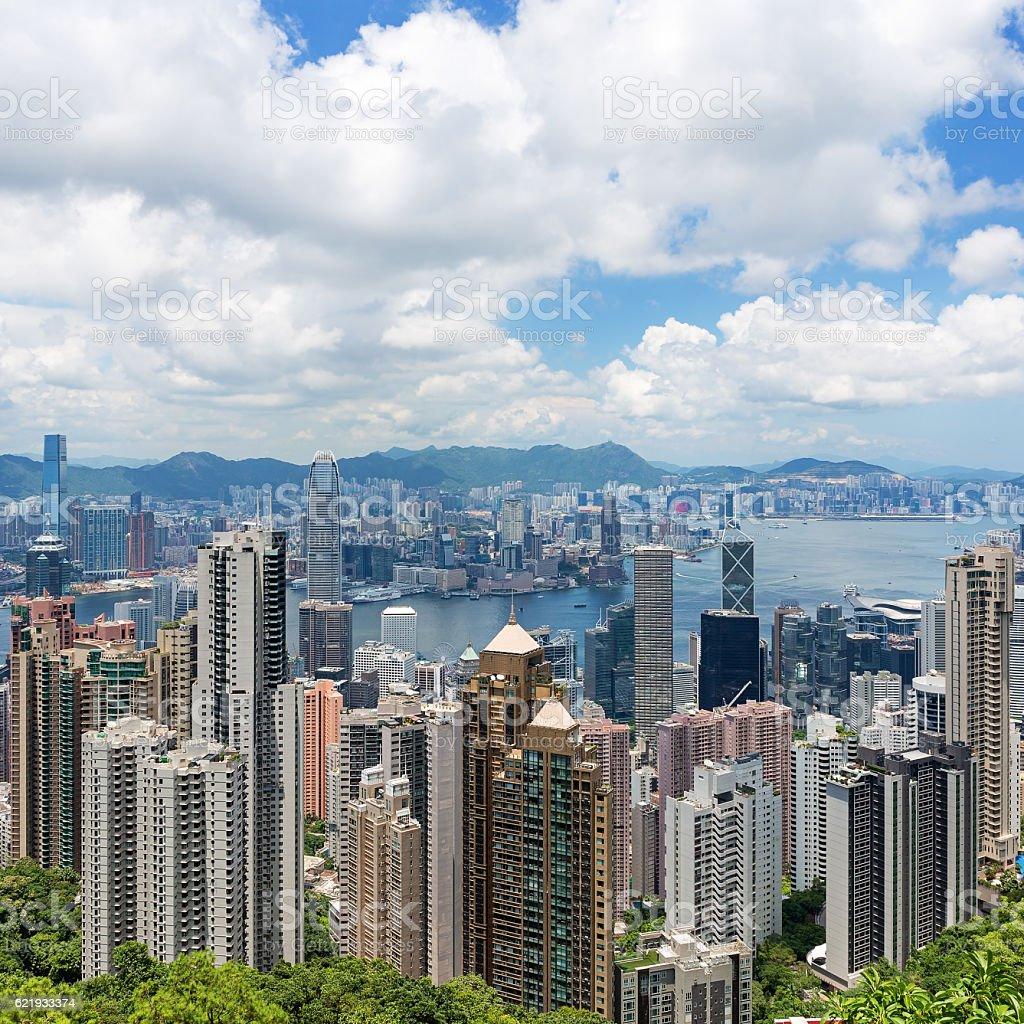 Hong Kong Famous View stock photo