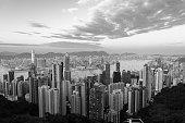 Hong Kong famous view (Black and White)