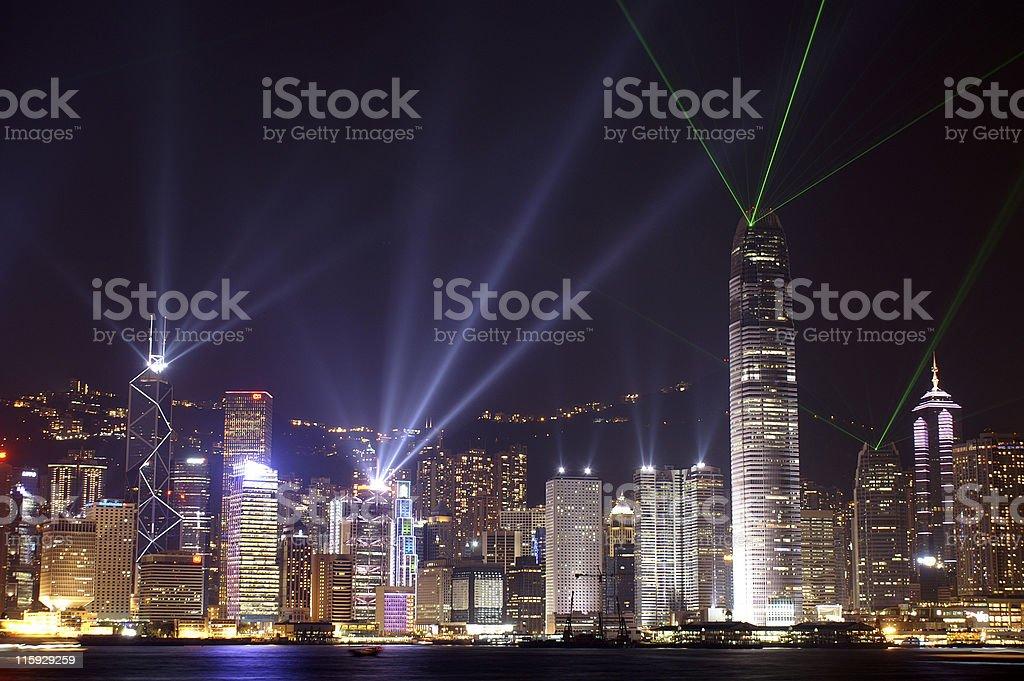 Hong Kong Festival of Lights royalty-free stock photo