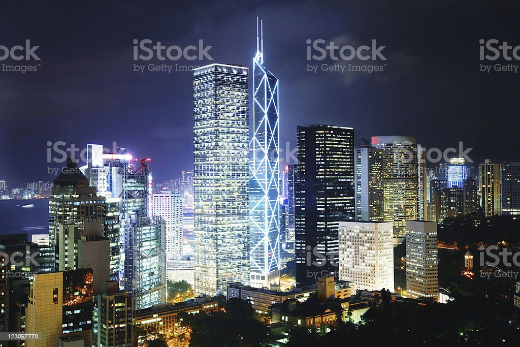 Hong Kong, financial district stock photo