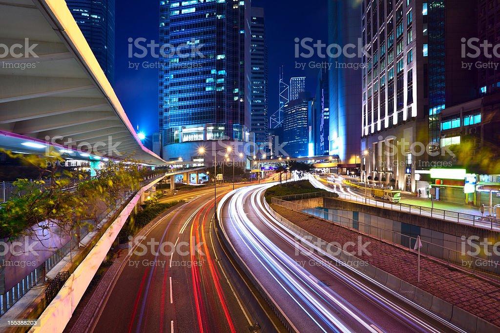 Hong Kong Financial District royalty-free stock photo