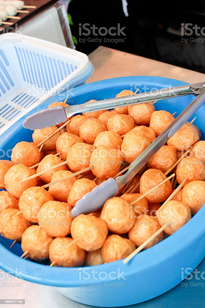 Hong Kong Fish Ball stock photo