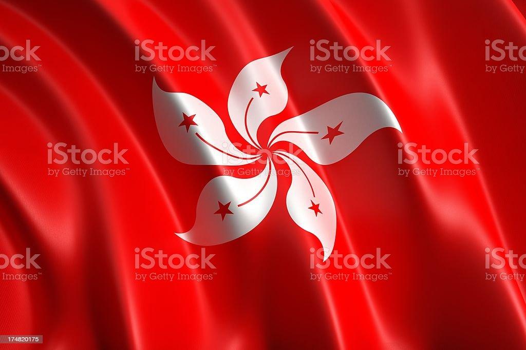 Hong Kong  flag royalty-free stock photo