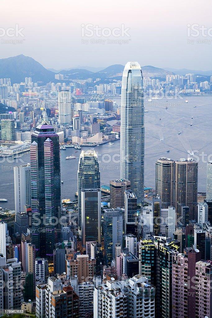 Hong Kong From The Peak stock photo