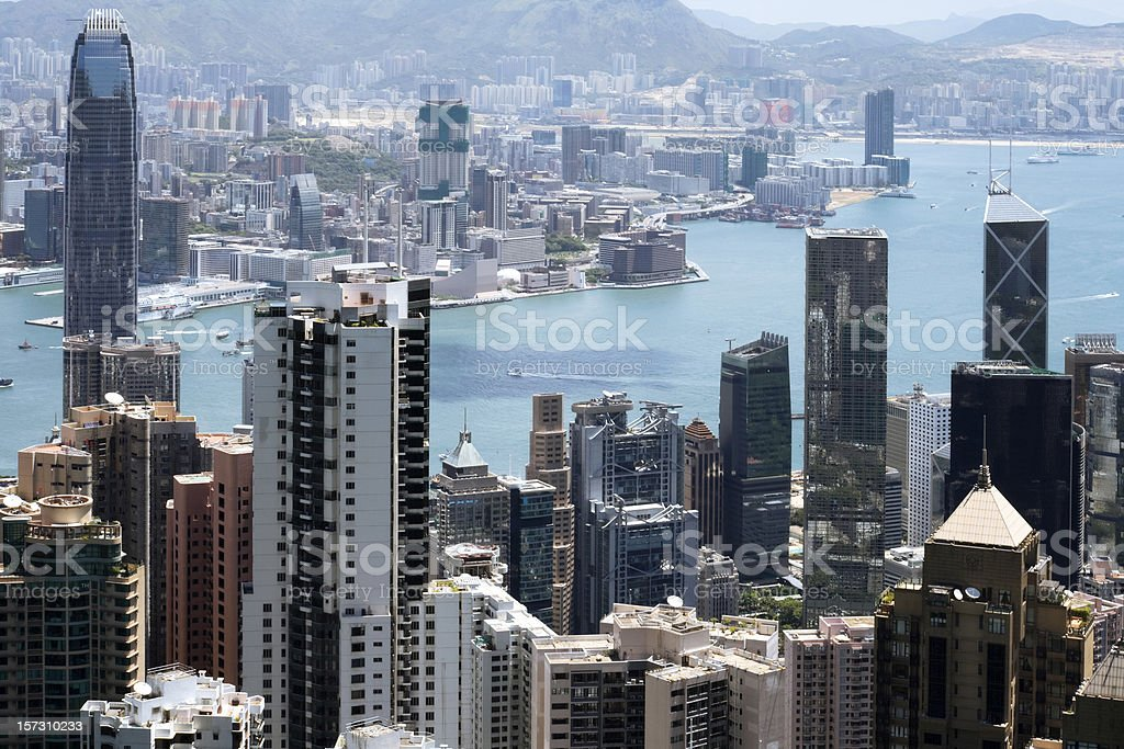 Hong Kong from Victoria Peak royalty-free stock photo
