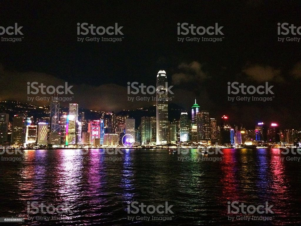Hong Kong Glamorous Night View stock photo