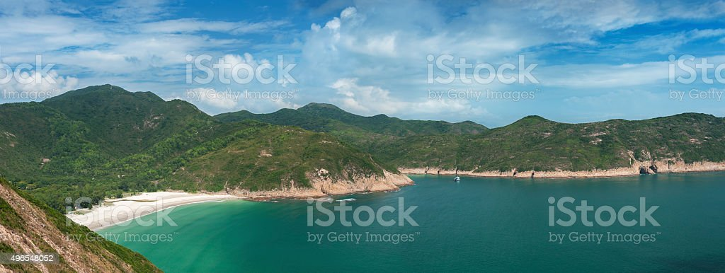 Hong Kong global geopark of china stock photo