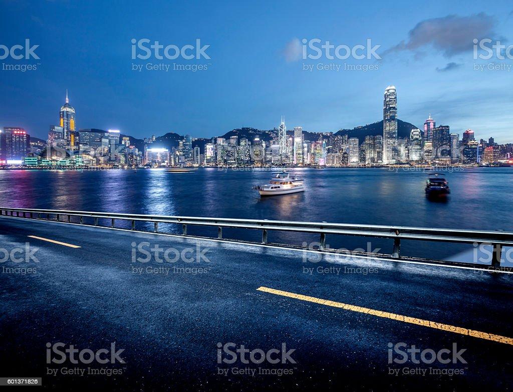 hong kong highway stock photo