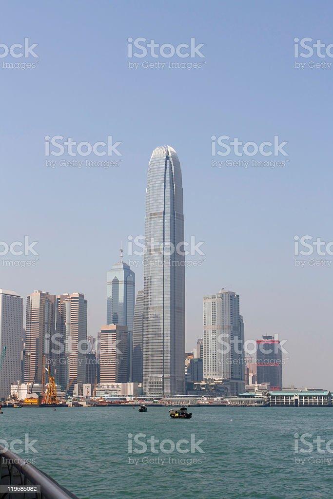 Hong Kong IFC building stock photo