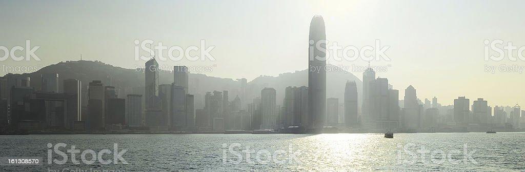 Hong Kong in backlight royalty-free stock photo