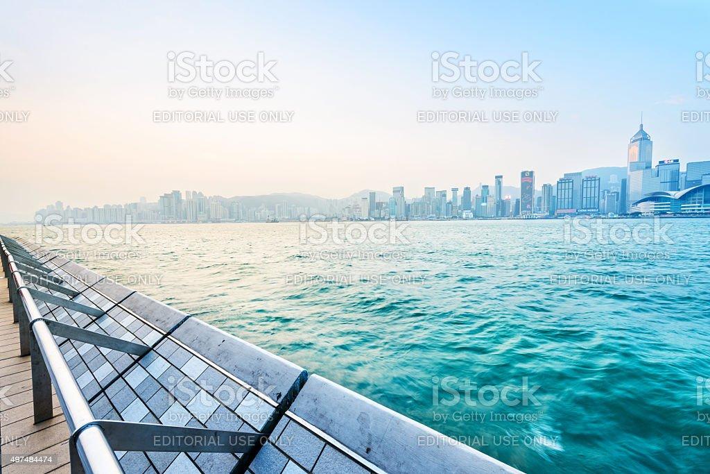 Hong Kong in the morning stock photo