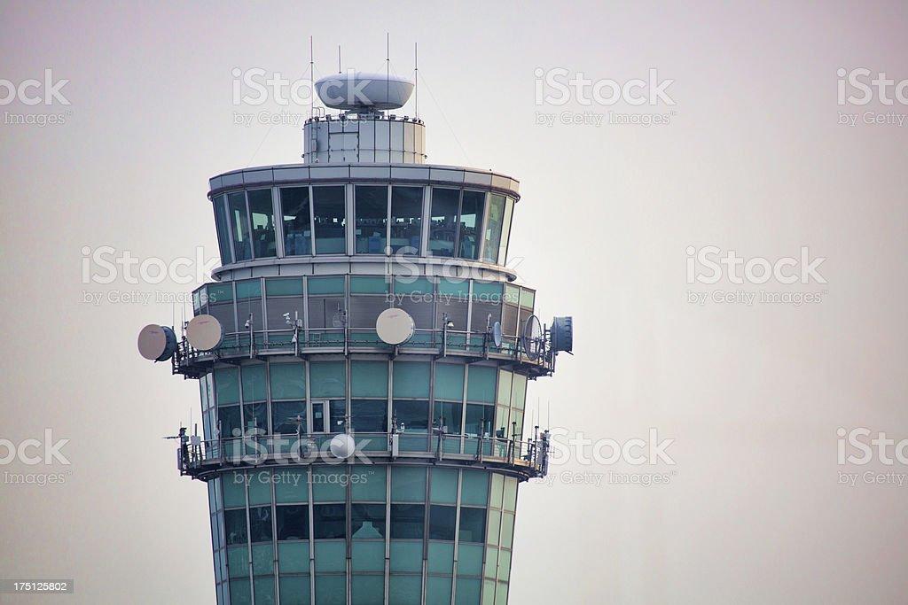 Hong Kong International Airport Control Tower royalty-free stock photo