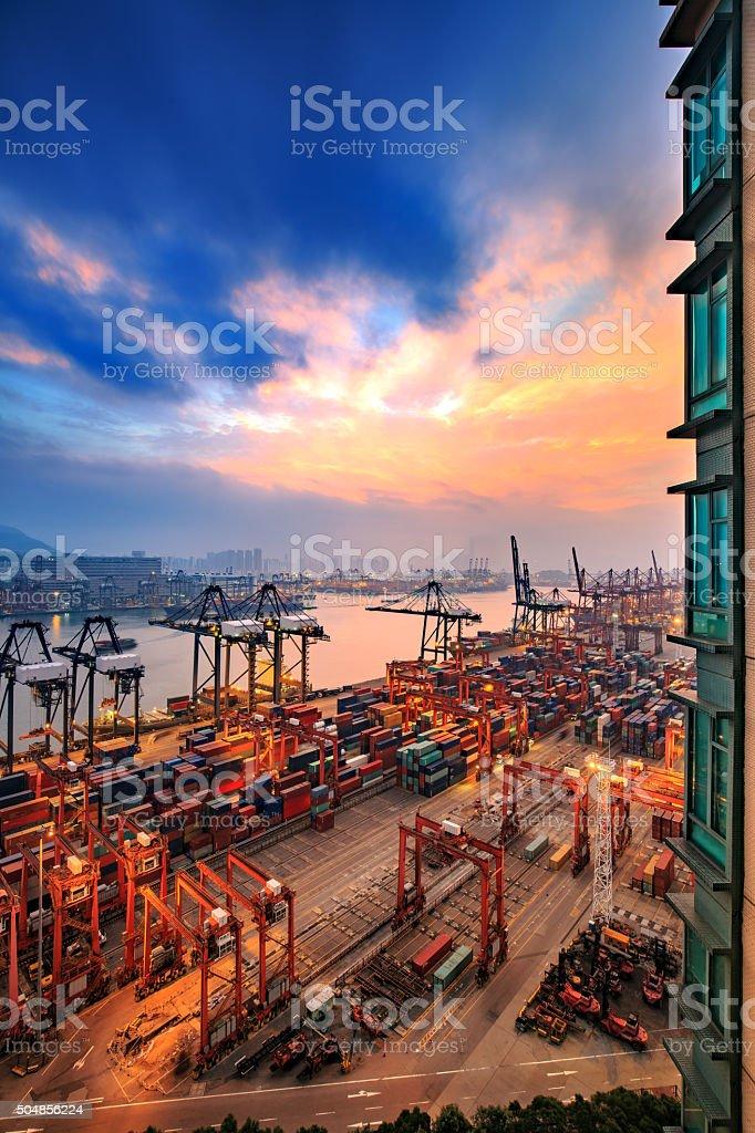 Hong Kong International Wharf 2016 stock photo