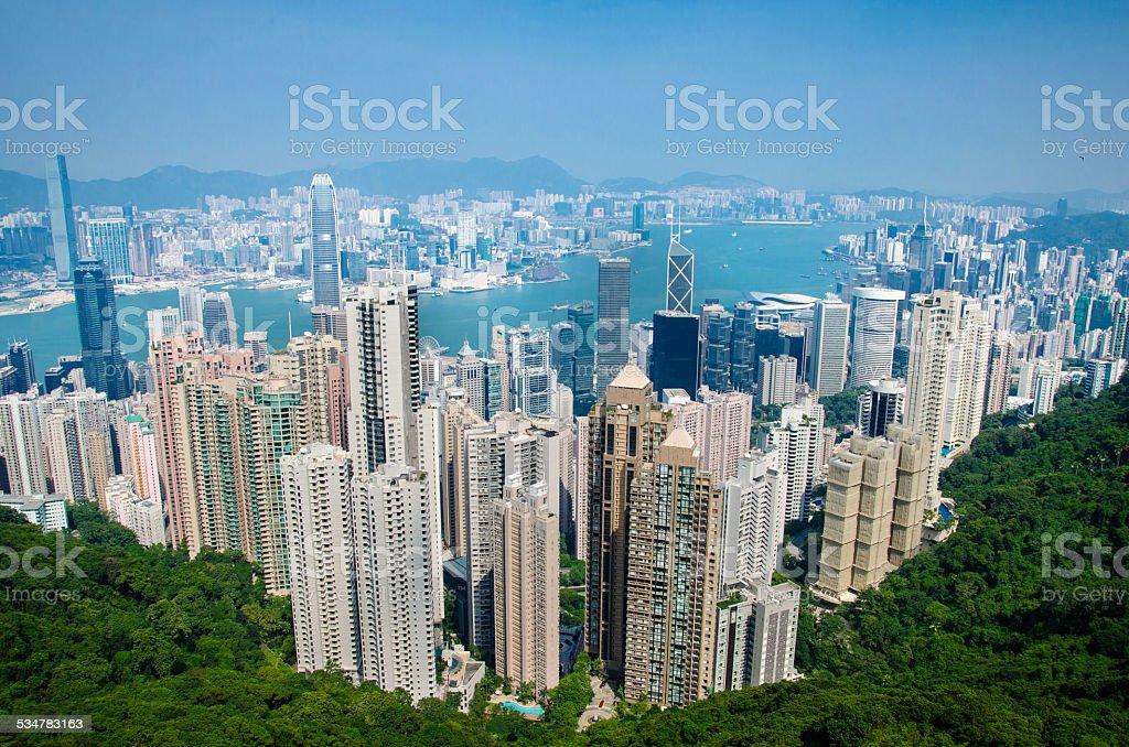Hong Kong Island Cityscape stock photo