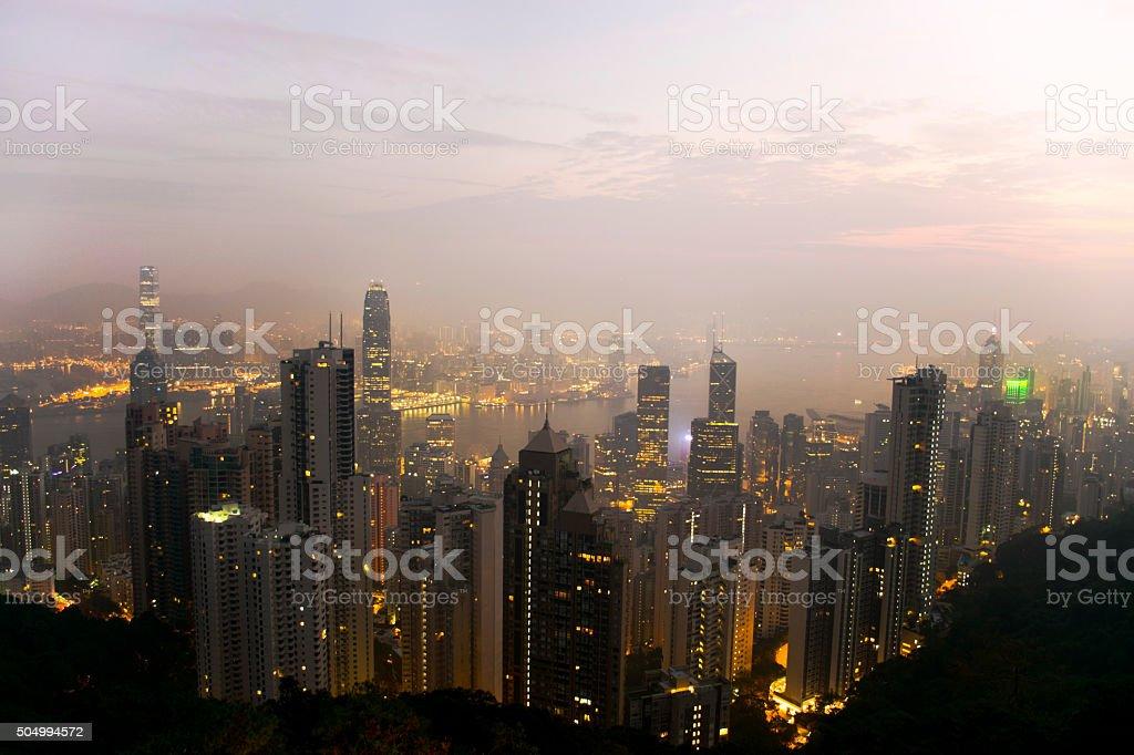 Hong Kong Island stock photo