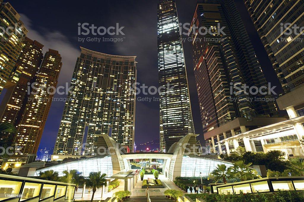 Hong Kong Kowloon skyscrapers stock photo