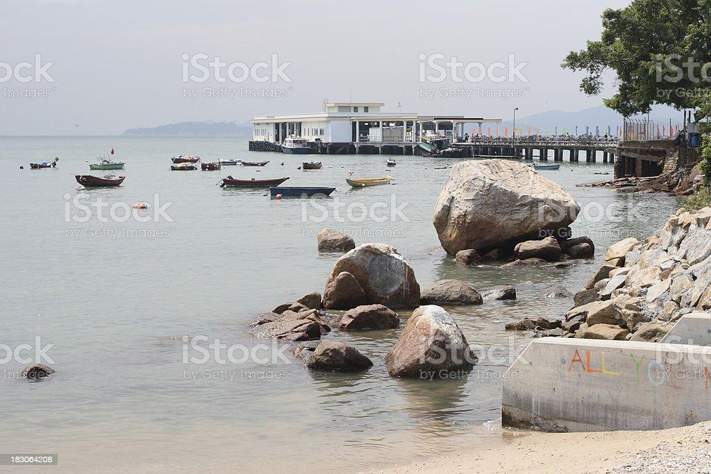 Hong Kong Lamma island stock photo