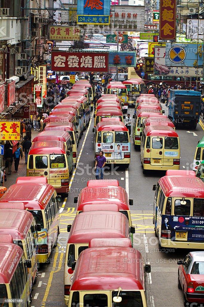 Hong Kong Mini Bus stock photo