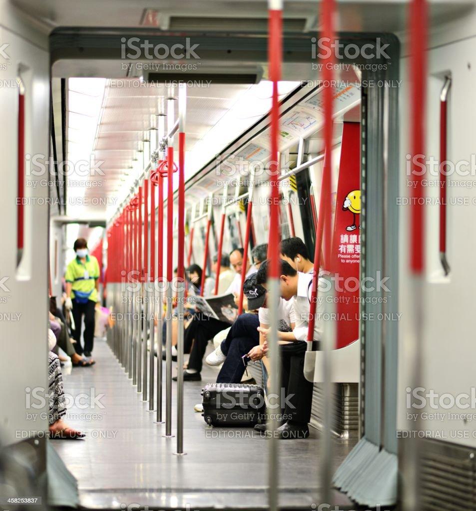 Hong Kong MTR royalty-free stock photo