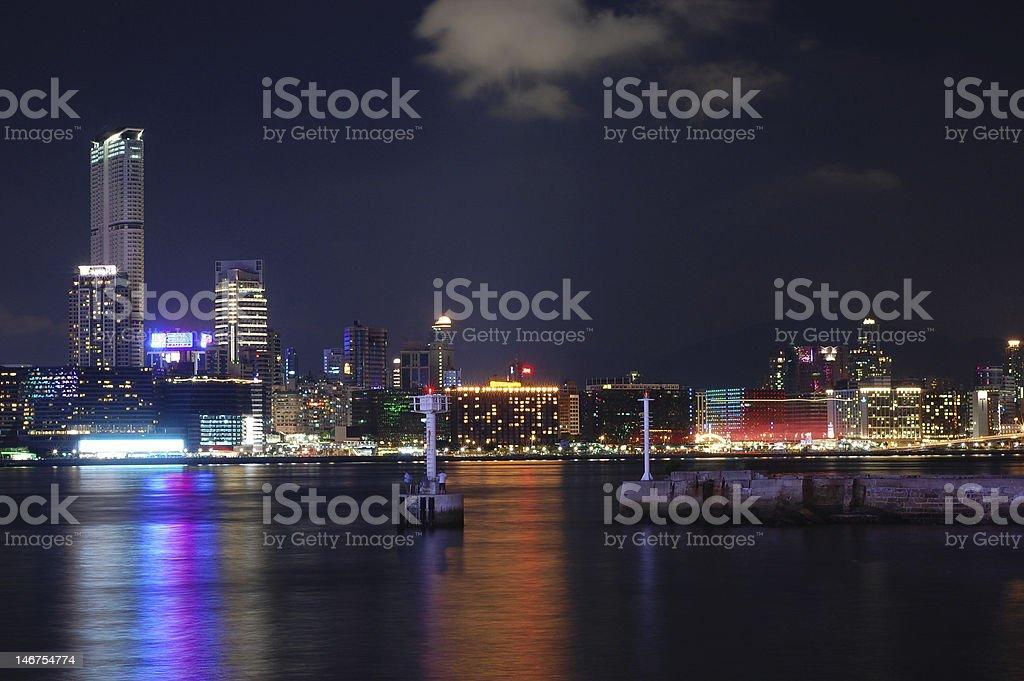 Hong Kong Night royalty-free stock photo