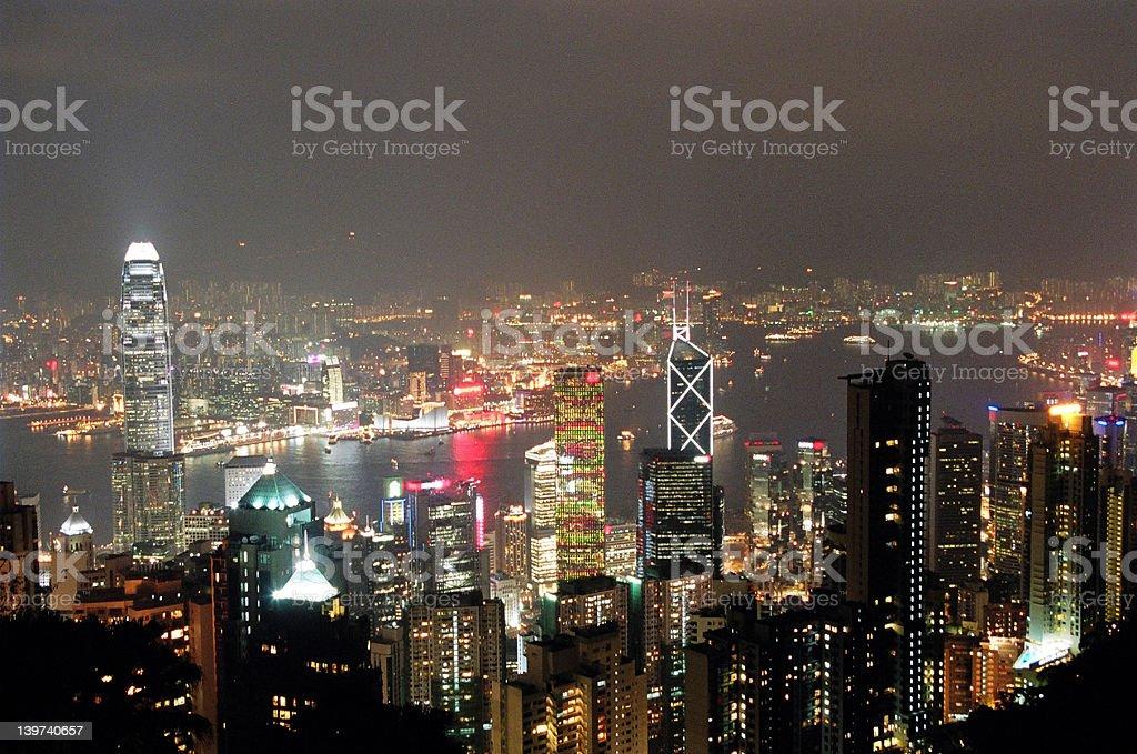 Hong Kong Night scene royalty-free stock photo