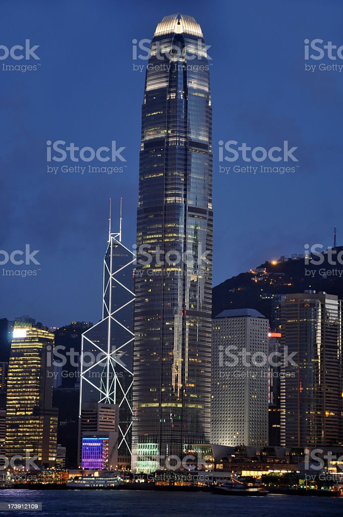 Hong Kong Night Scene royalty-free stock photo