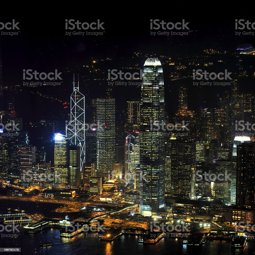 Hong Kong Night View royalty-free stock photo