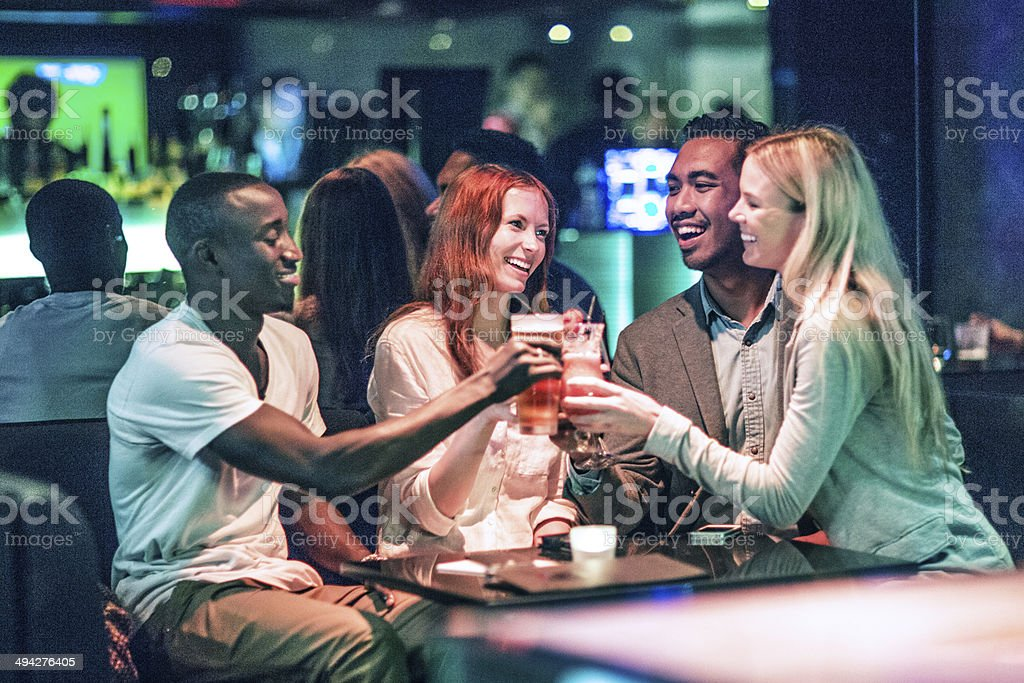 Hong Kong nightlife stock photo