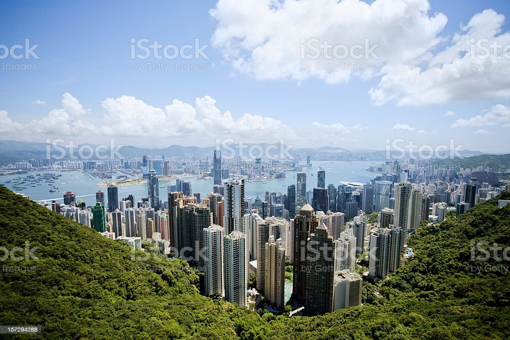 Hong Kong on A Clear Day royalty-free stock photo