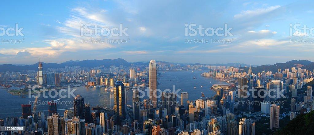 Hong Kong Panoramic royalty-free stock photo