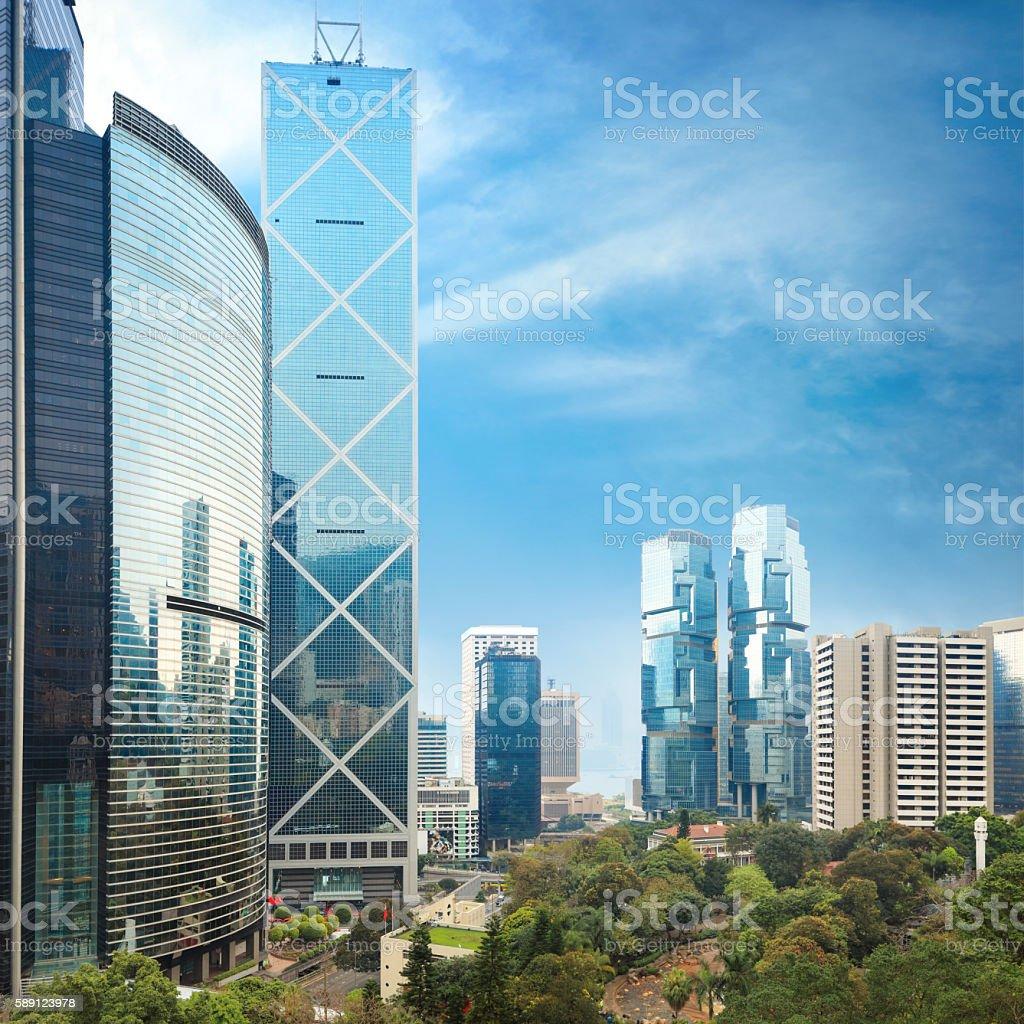 Hong Kong Park stock photo