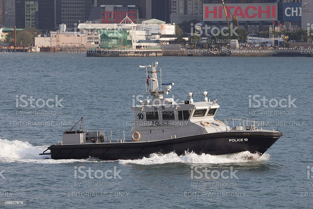 Hong Kong Police Force Anti-Smuggling Patrol Boat stock photo