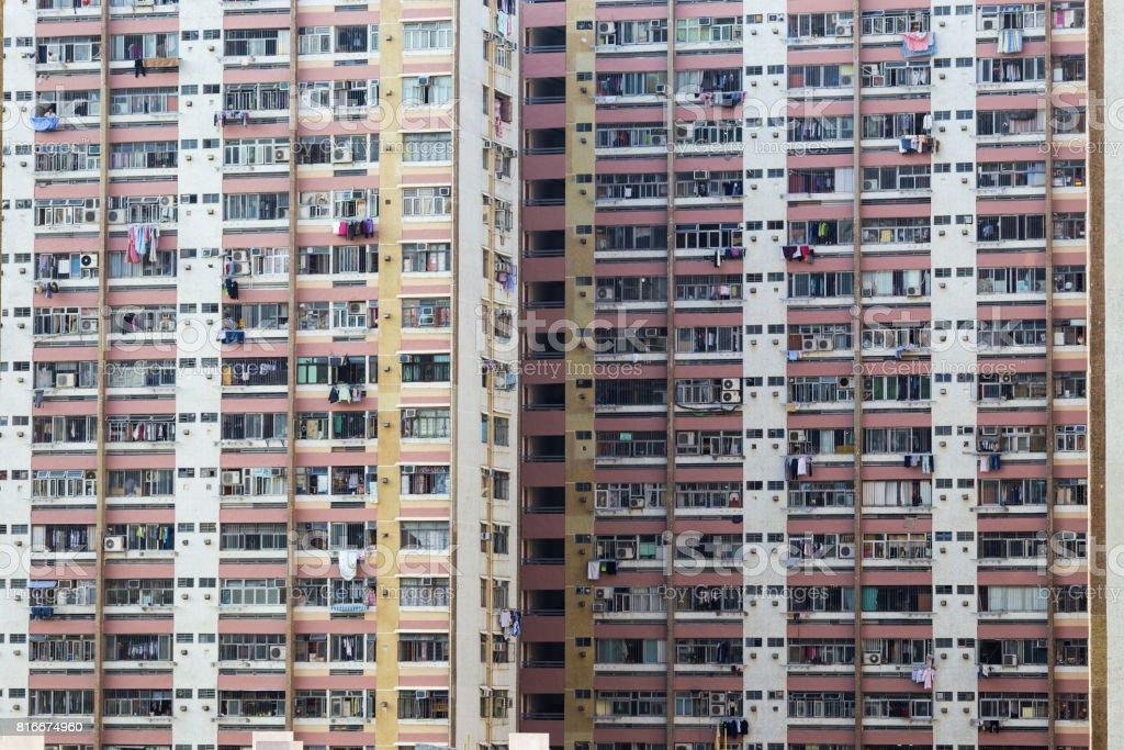 hong kong public estate stock photo
