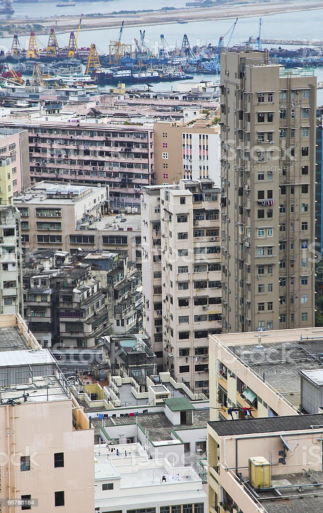 Hong Kong área residencial 1 foto de stock libre de derechos