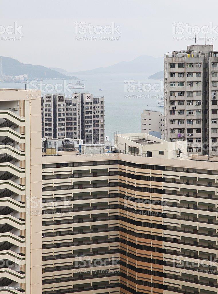 Hong Kong área residencial foto de stock libre de derechos