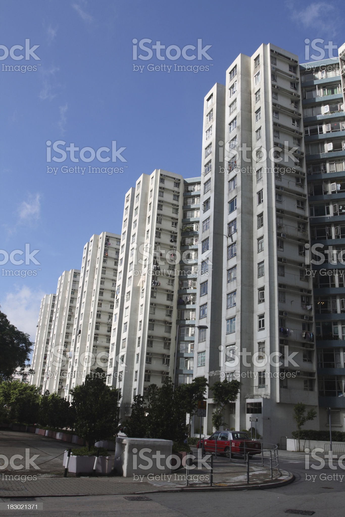 Hong Kong residential suburb royalty-free stock photo