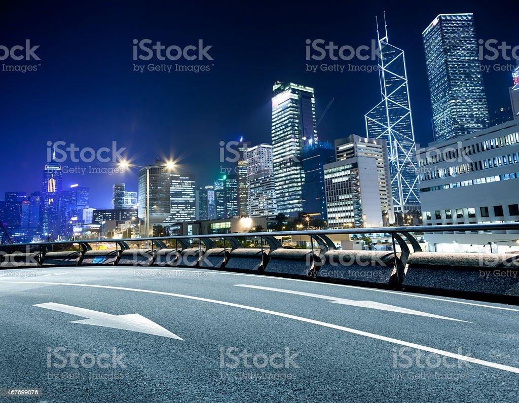 Hong Kong road stock photo