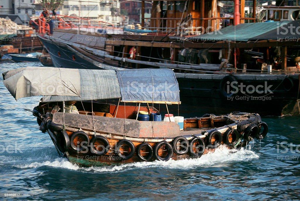 Hong Kong sampan stock photo