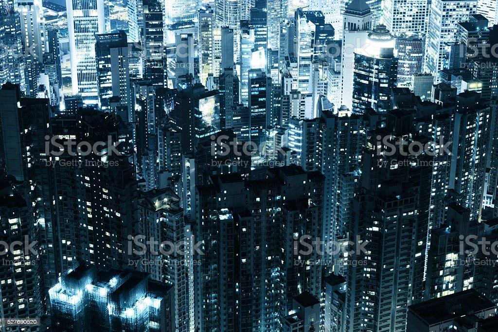 Hong Kong skycrapers stock photo